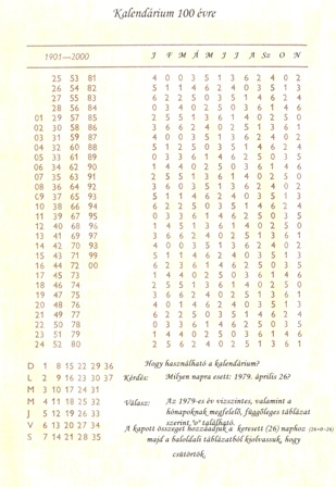 pap naptár 100 évre szóló naptár | Pap Gy. László pap naptár